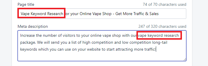Vape Key Word Research for Your Vape Website
