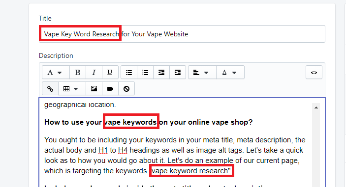 Vape Keyword Research for Your Online Vape Shop