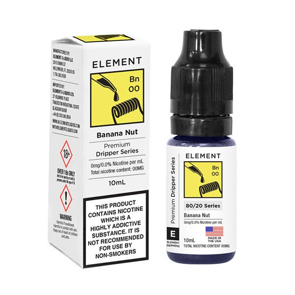 Vape Review of Banana Nut E-Liquid by Element 10ml