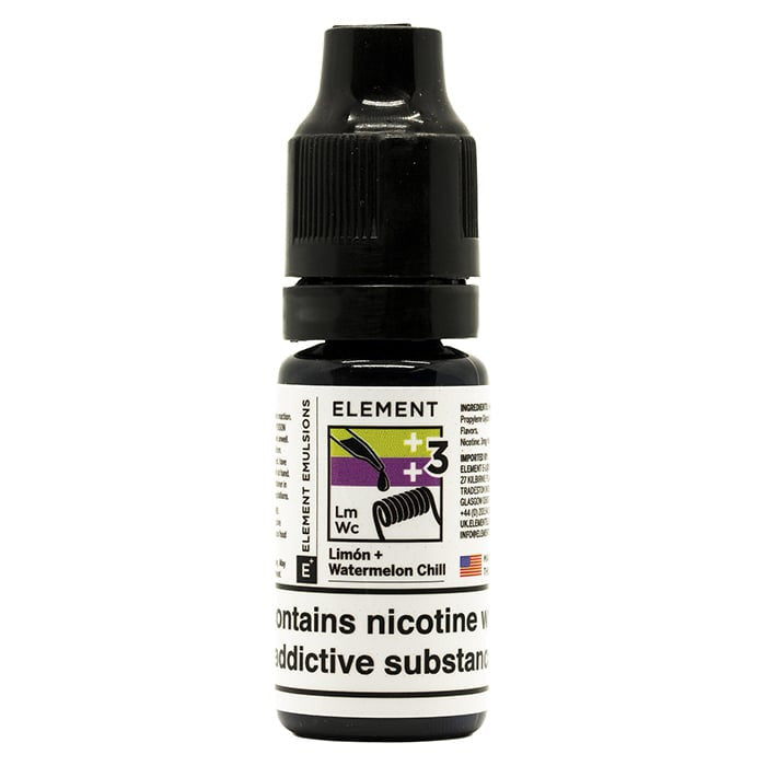 Vape Review of Element Emulsions Limon + Watermelon Chill E-Liquid Black Friday Exclusive