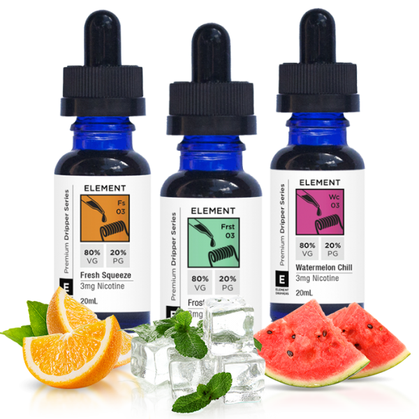 Vape Review of Element Fresh Squeeze, Frost & Watermelon Chill Juice Sampler (60 ML)