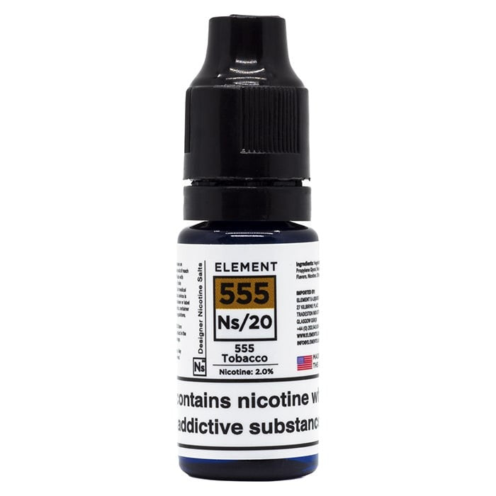 Vape Review of Element NS20 Series - 555 Tobacco E-Liquid