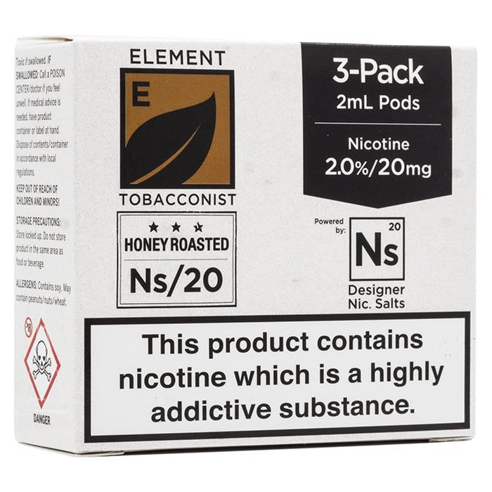 Vape Review of Element NS20 Series - Honey Roast Tobacco Pods