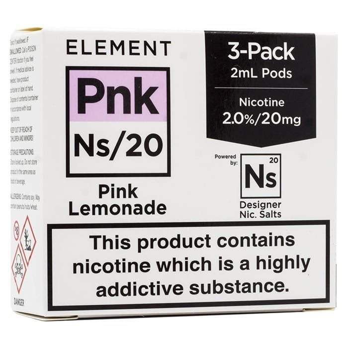 Vape Review of Element NS20 Series - Pink Lemonade Pods