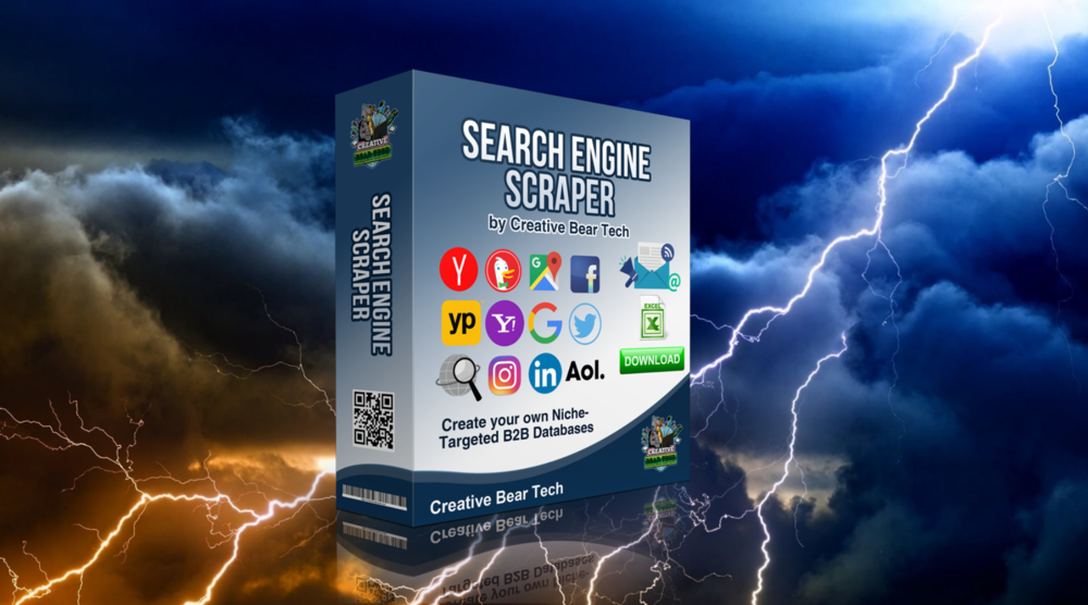 EMAIL EXTRACTOR AND SEARCH ENGINE SCRAPER BY CREATIVE BEAR TECH