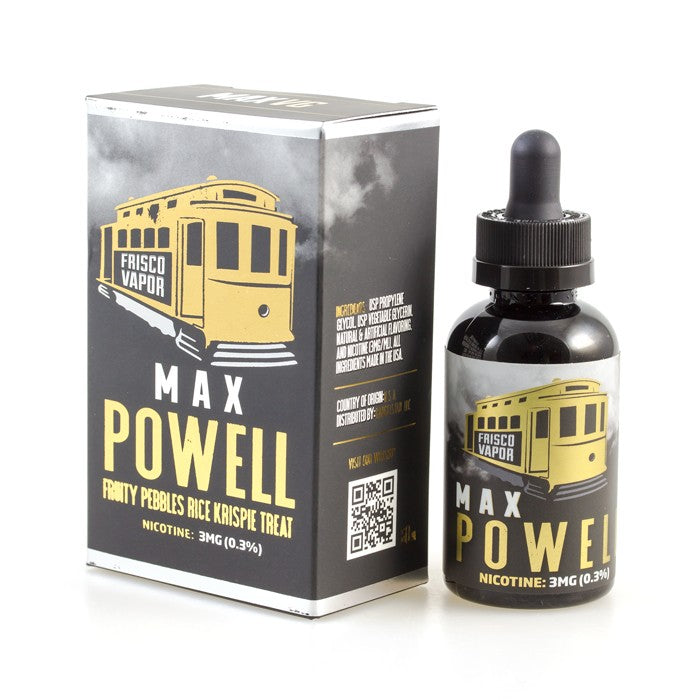 Vape Review of Frisco Vapor Max Powell 60ml E-Liquid