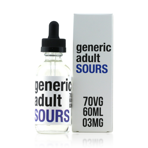 Vape Review of Generic Adult Sours Berry E-liquid (60ML)