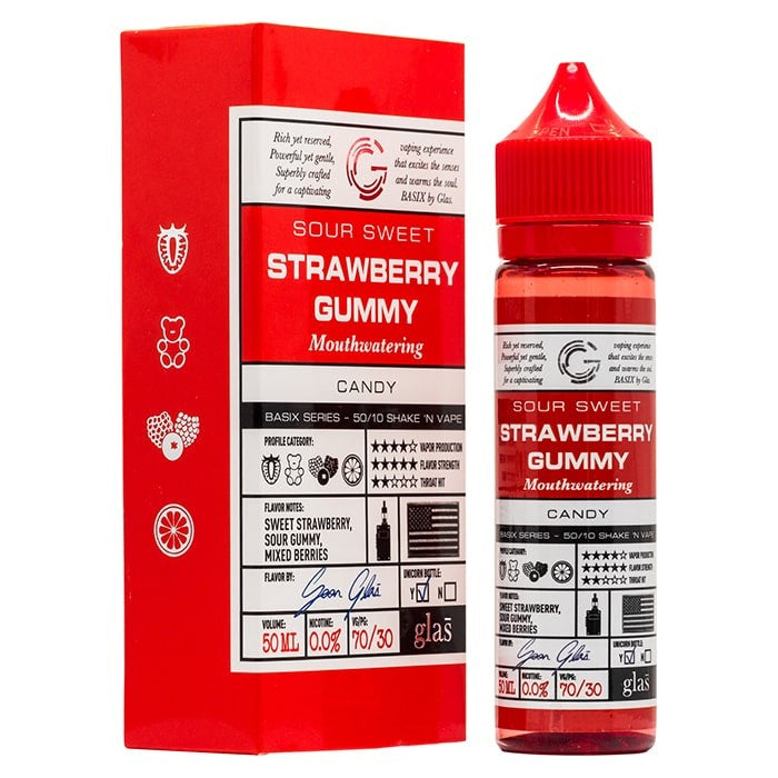 Vape Review of Glas Basix Series - Strawberry Gummy