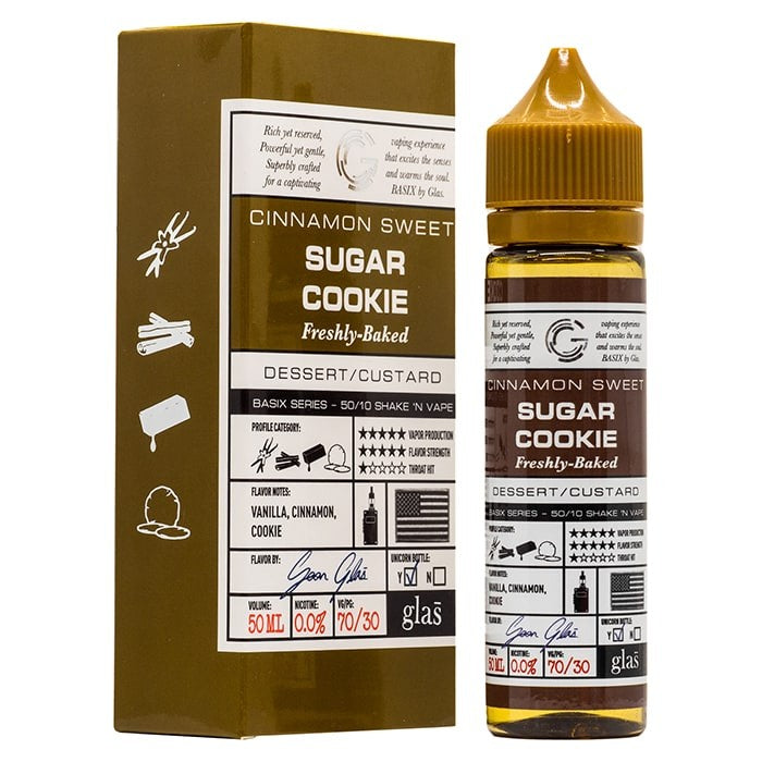 Vape Review of Glas Basix Series - Sugar Cookie