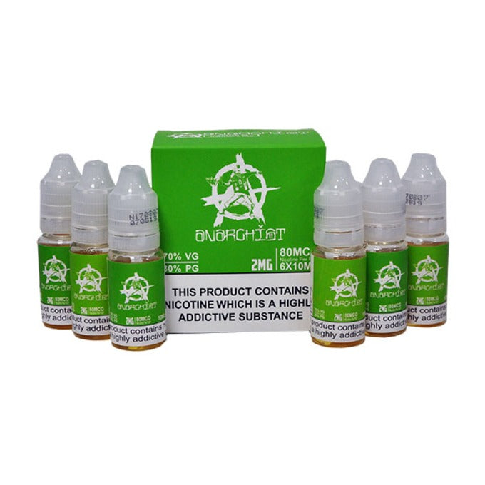 Vape Review of Green E-Liquid by Anarchist 6x10ml