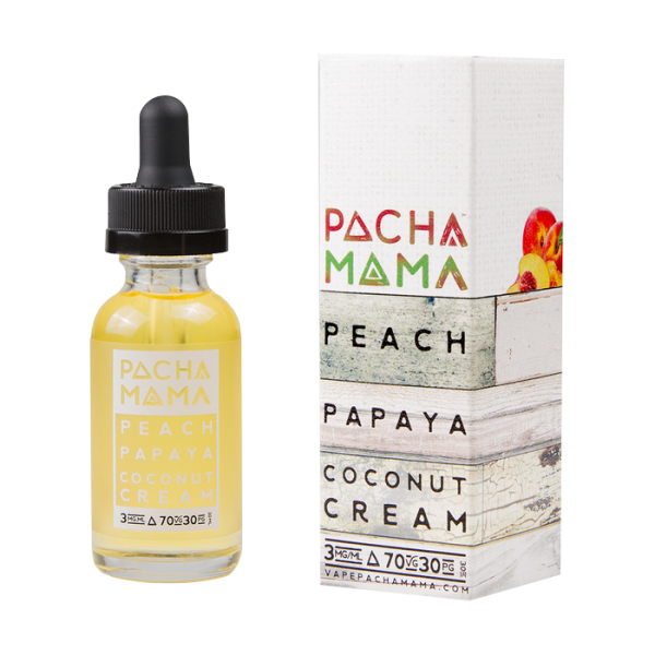 Vape Review of Pachamama Peach Papaya Coconut E-liquid (60ML)
