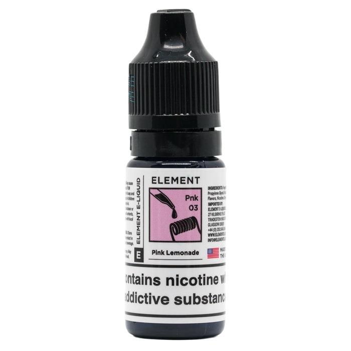 Vape Review of Pink Lemonade Dripper E-Liquid by Element E-Liquid Black Friday Exclusive