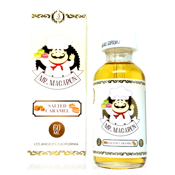 Vape Review of Salted Caramel by Mr. Macaron E-liquid (60ML)