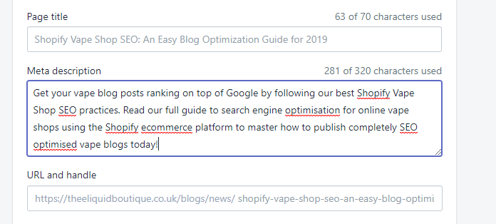 Shopify Vape Shop SEO An Easy Blog Optimization Guide for 2019