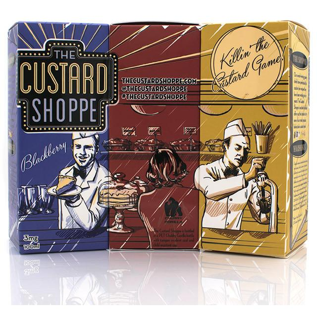 Vape Review of THE CUSTARD SHOPPE 3 PACK BUNDLE