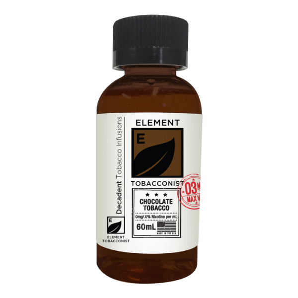 Vape Review of Tobacconist by Element Chocolate Tobacco E-Liquid (60ML)