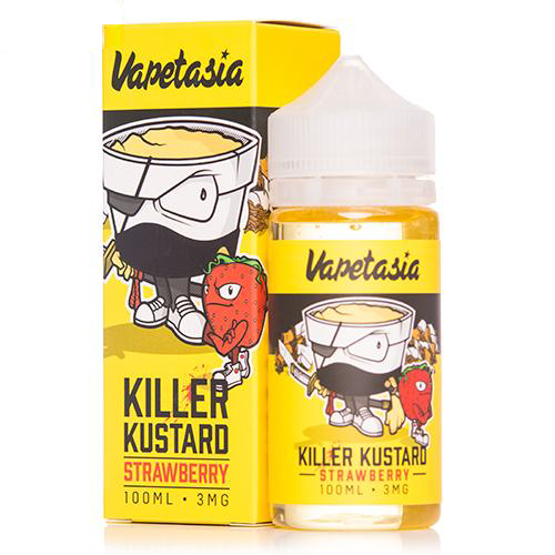 Vape Review of VAPETASIA STRAWBERRY KILLER KUSTARD EJUICE