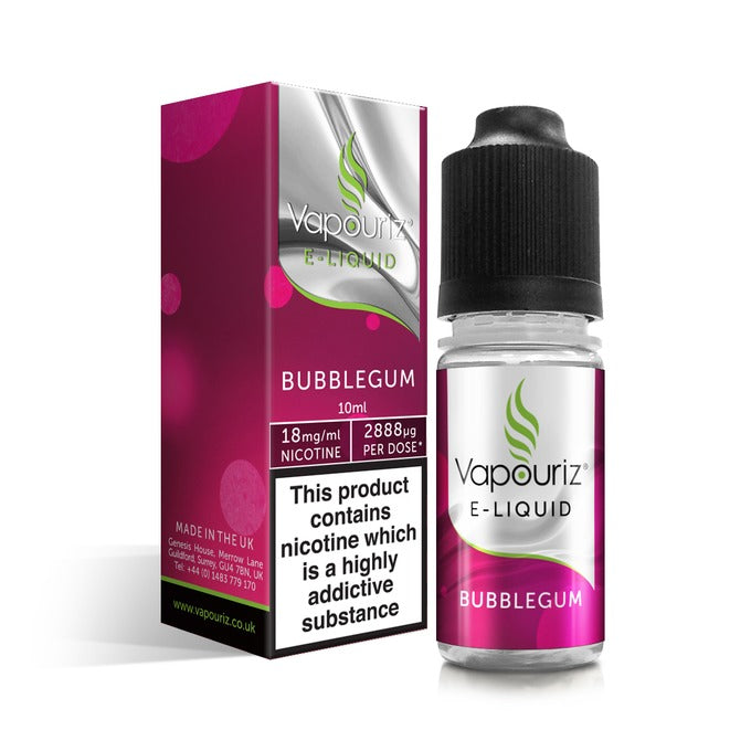 Vape Review of Vapouriz Bubblegum Flavour E-liquid