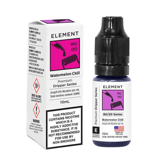 Vape Review of Watermelon Chill E-Liquid by Element 10ml