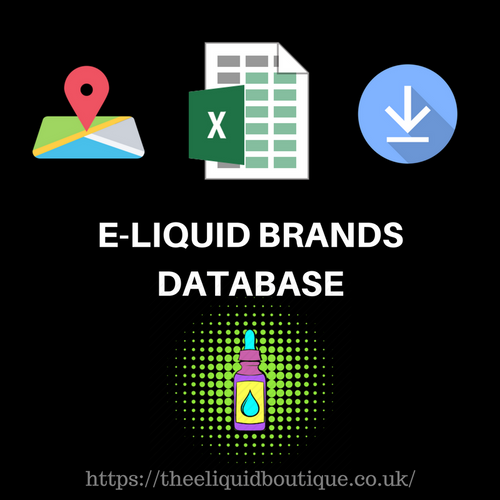 E-LIQUID BRANDS DATABASE