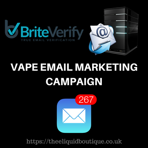 VAPE EMAIL MARKETING CAMPAIGN