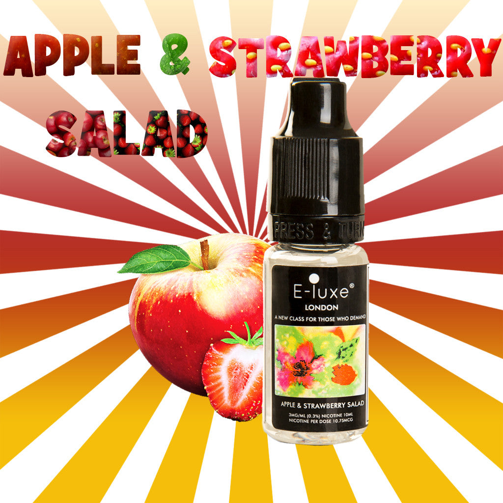 Apple and Strawberry Salad - Premium E-Liquid by E-Luxe London - 3mg nicotine - 50vg 50pg