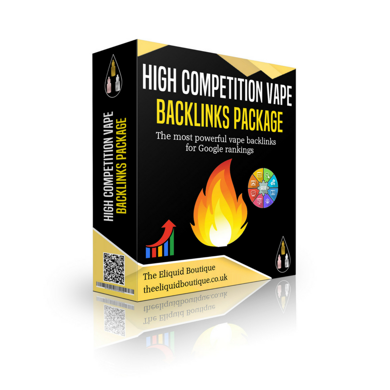 High Competition Vape Backlinks Package