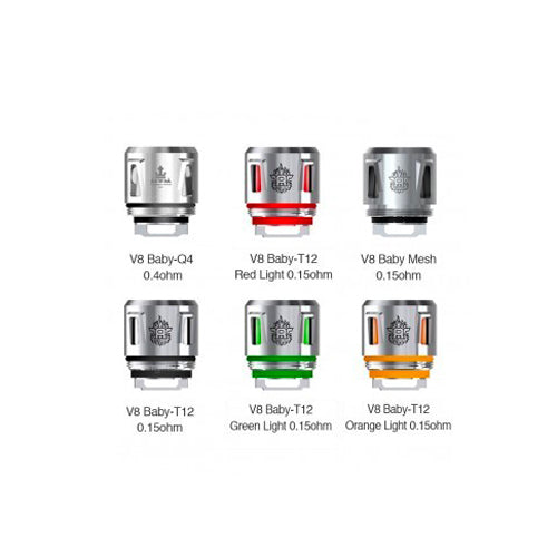 Smok TFV8 Baby Replacement Vape Coils  5 Pack T12 Core LED