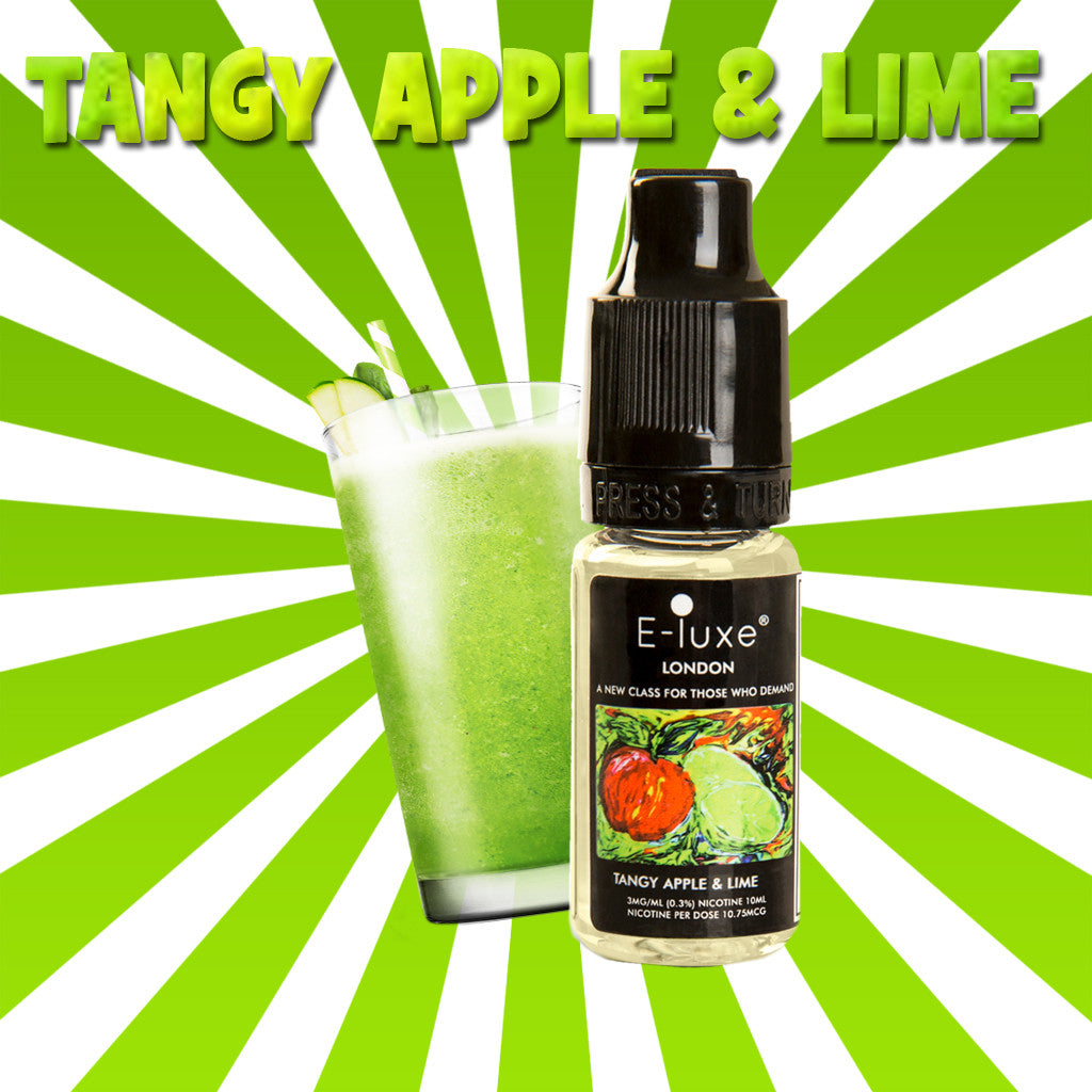 Tangy Apple & Lime - Premium E-Liquid by E-Luxe London - 3mg nicotine - 50vg 50pg