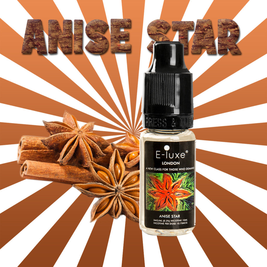 Anise Star - Premium E-Liquid by E-Luxe London - 3mg nicotine - 50vg 50pg