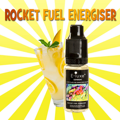 Rocket Fuel Energiser - Premium E-Liquid by E-Luxe London - 3mg nicotine - 50vg 50pg