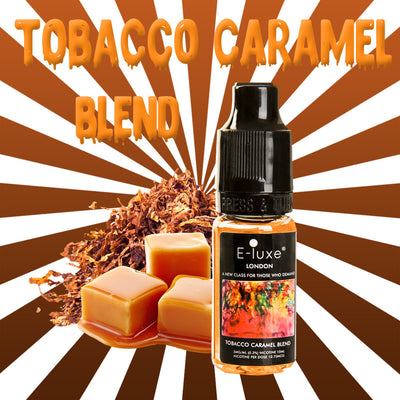 Tobacco Caramel Blend - Premium E-Liquid by E-Luxe London - 3mg nicotine - 50vg 50pg