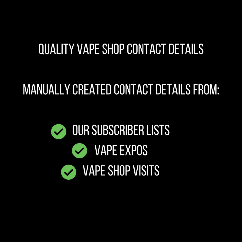 vapepromoter i will give you global vape shop database 60 countries