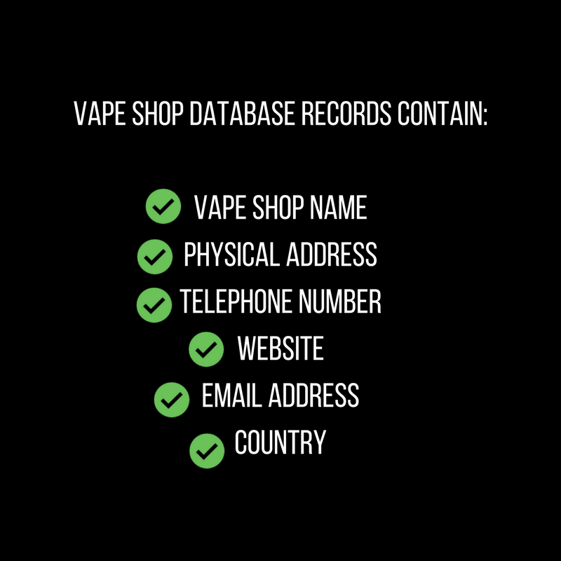 cryptovaper i will give you a copy of the global vape shop database