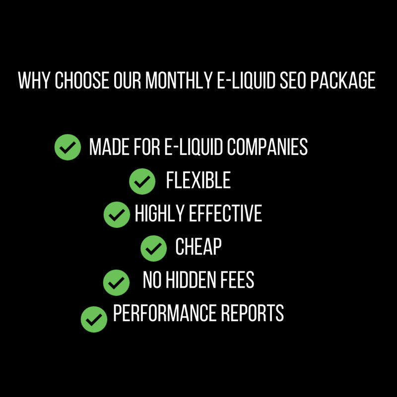 E-Liquid SEO Monthly Package