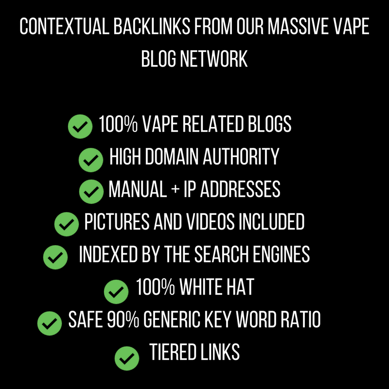 vapepromoter i will do white hat seo backlinks create with high authority links