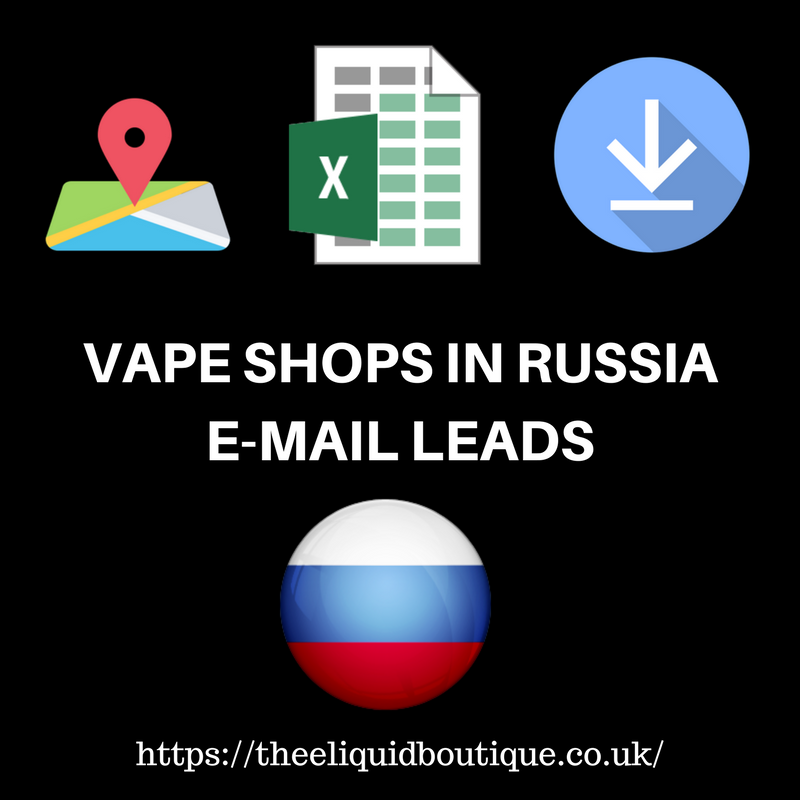 B2B Email Marketing List of All Vape Shops in Russia