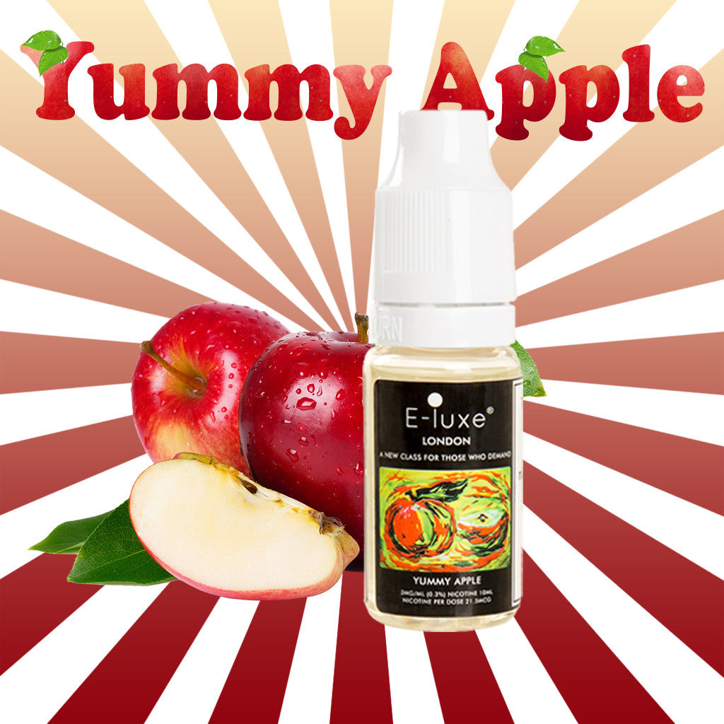 Yummy Apple - Premium E-Liquid by E-Luxe London - 3mg nicotine - 70vg 30pg