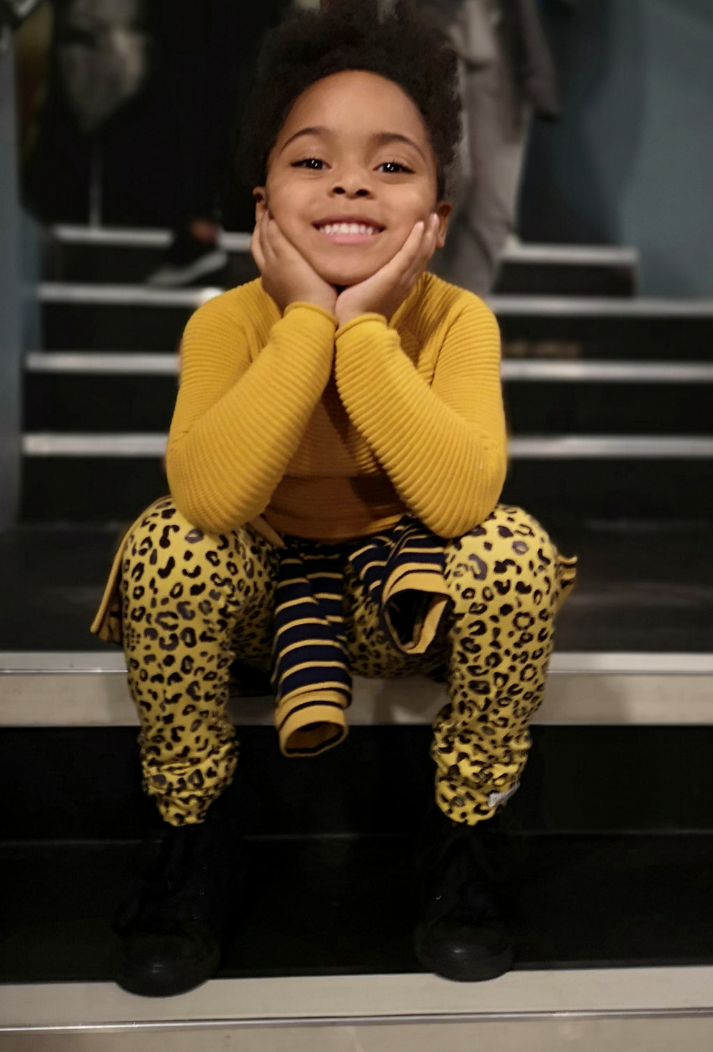 Mustard  Yellow Leopard Leggings