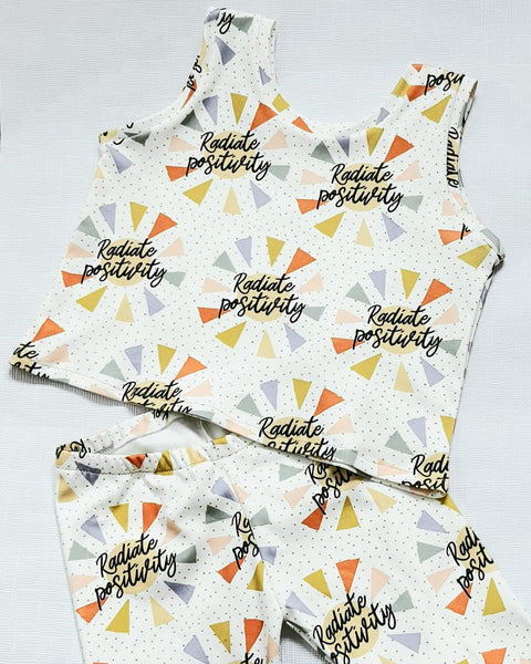 Tank Top Radiate Positivity Set