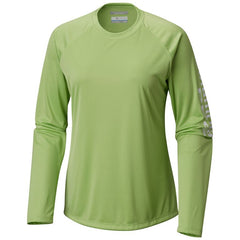 Columbia Women's PFG Tidal Tee™ II Long Sleeve Shirt Jade Lime/White Logo