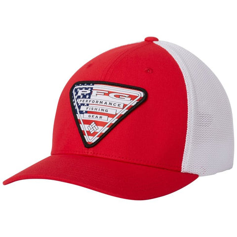 Columbia PFG Mesh Stateside™ Ball Cap Mountain Red