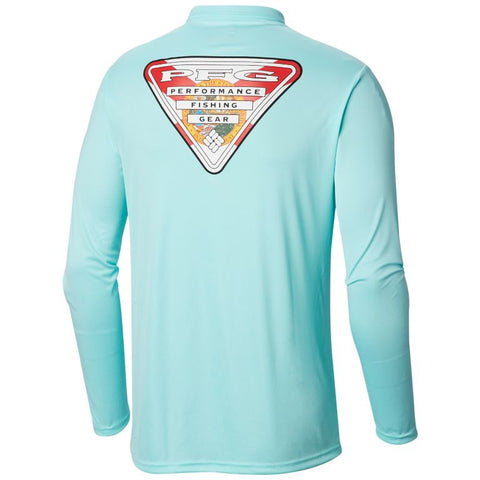 Columbia Men's Terminal Tackle PFG Triangle Flag™ Long Sleeve Shirt Gulf Stream