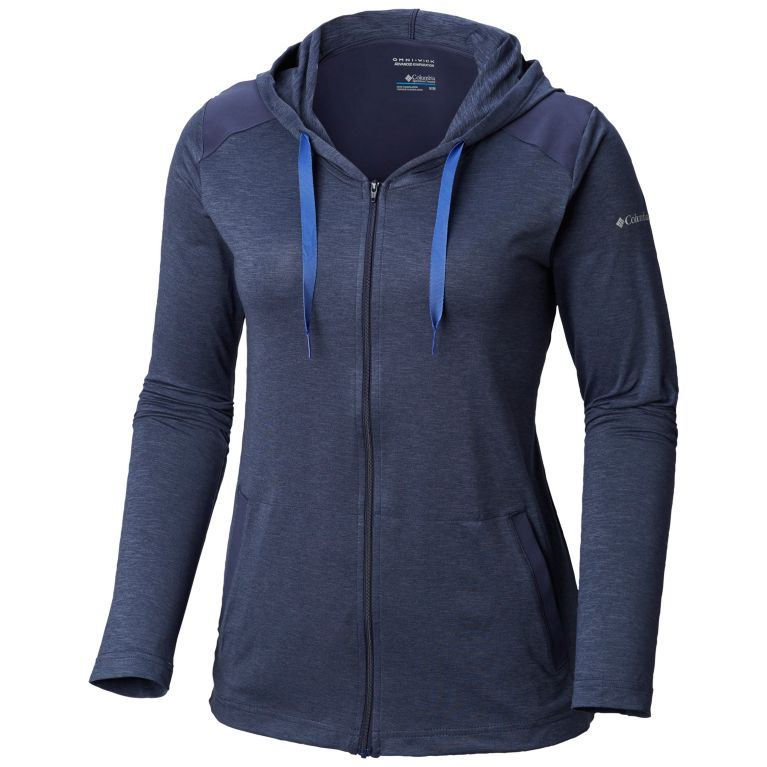 Columbia Women's Place To Place™ Full Zip Hoodie - Plus Size Nocturnal Heather