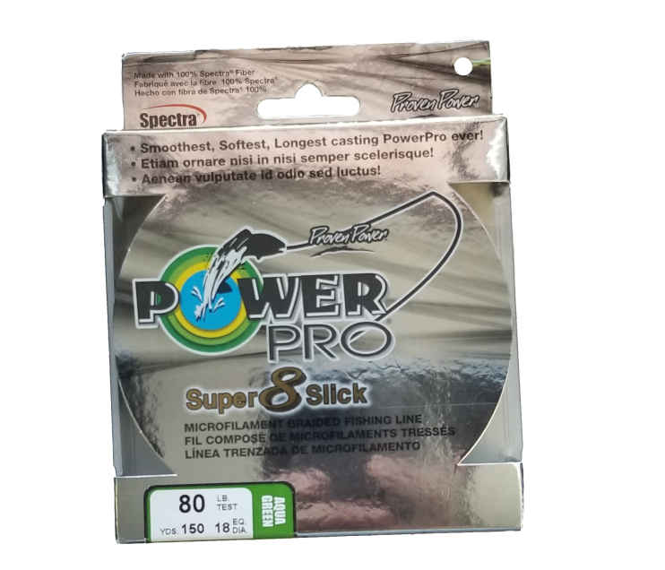 Power Pro Super 8 Slick Green 80 lb 150 yds Braided Fishing Line