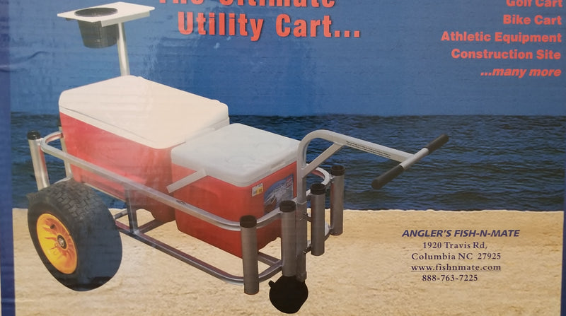 Angler's Fish-N-Mate Cart Black Tires w/ Front Wheel 433