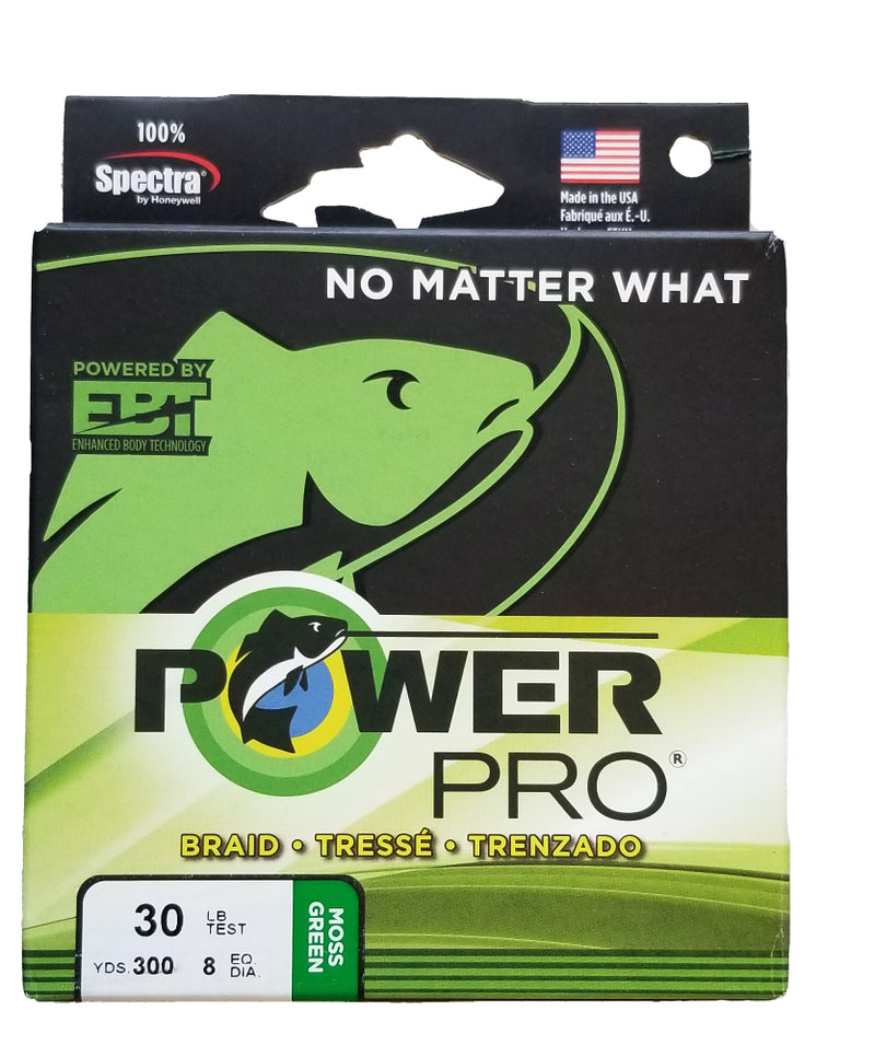 Power Pro Moss Green 30 lb 300 yds Braided Fishing Line