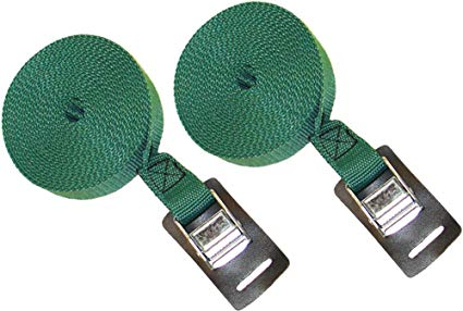 Malone Heavy Duty Straps 15ft Green