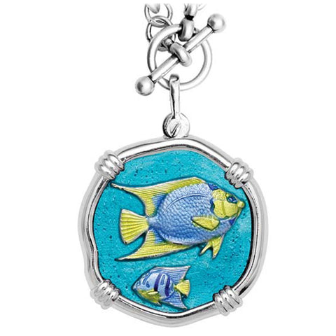 Guy Harvey Angelfish Enamel Necklace
