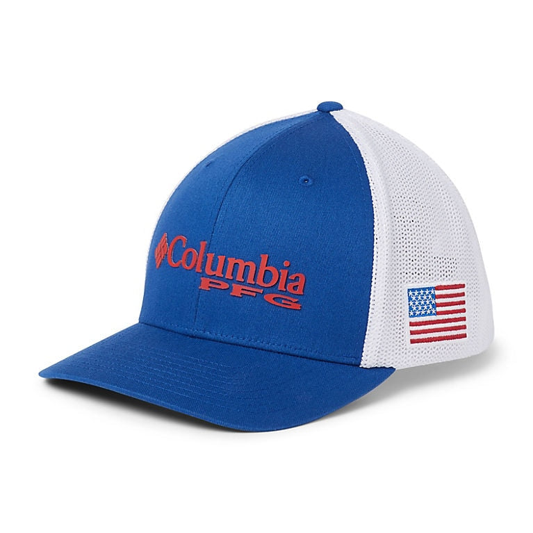 Columbia PFG Mesh Ball Cap USA Flag